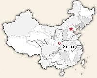 China Map: Virtual Tour Maps of Beijing, Shanghai, Xi'an ... |Xian East Asia Map